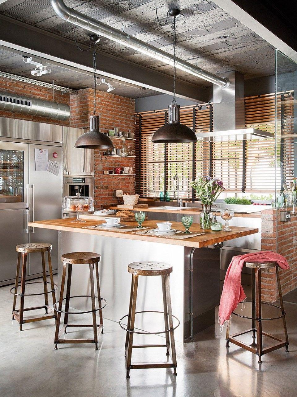 подвесные светильники кухня лофт