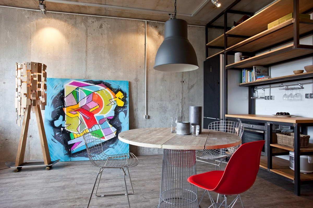 бетонные стены лофт