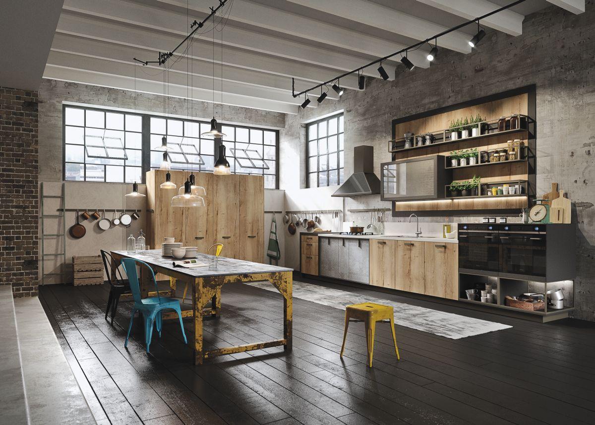 бетонное основание кухня лофт