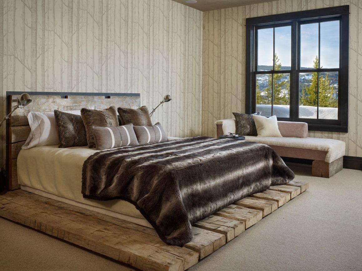 кровать из дерева лофт