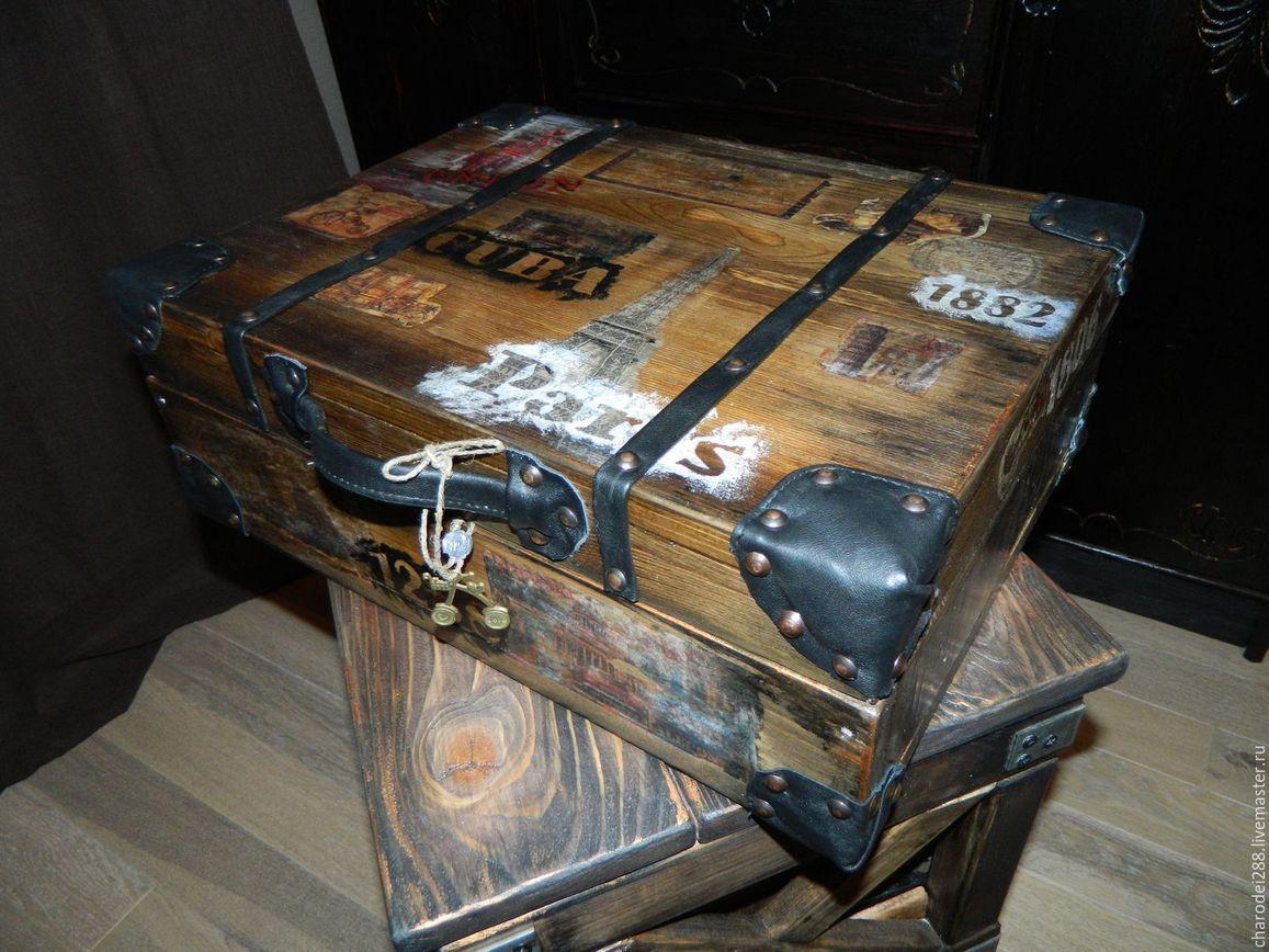 винтажные чемоданы лофт