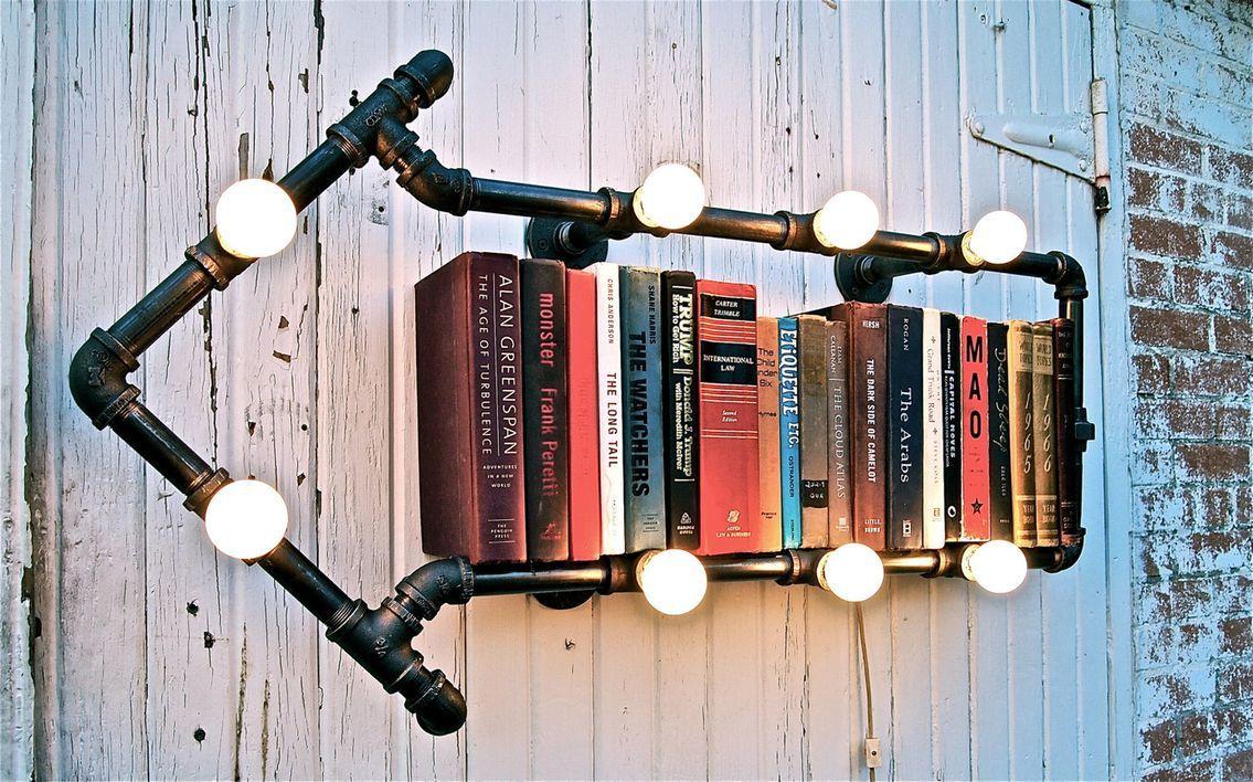 светильник подставка для книг лофт