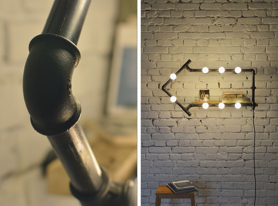 светильник лофт из труб