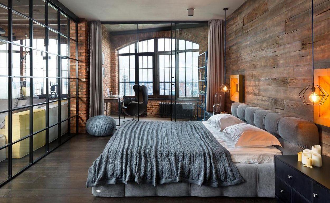подвесные светильники лофт в спальню