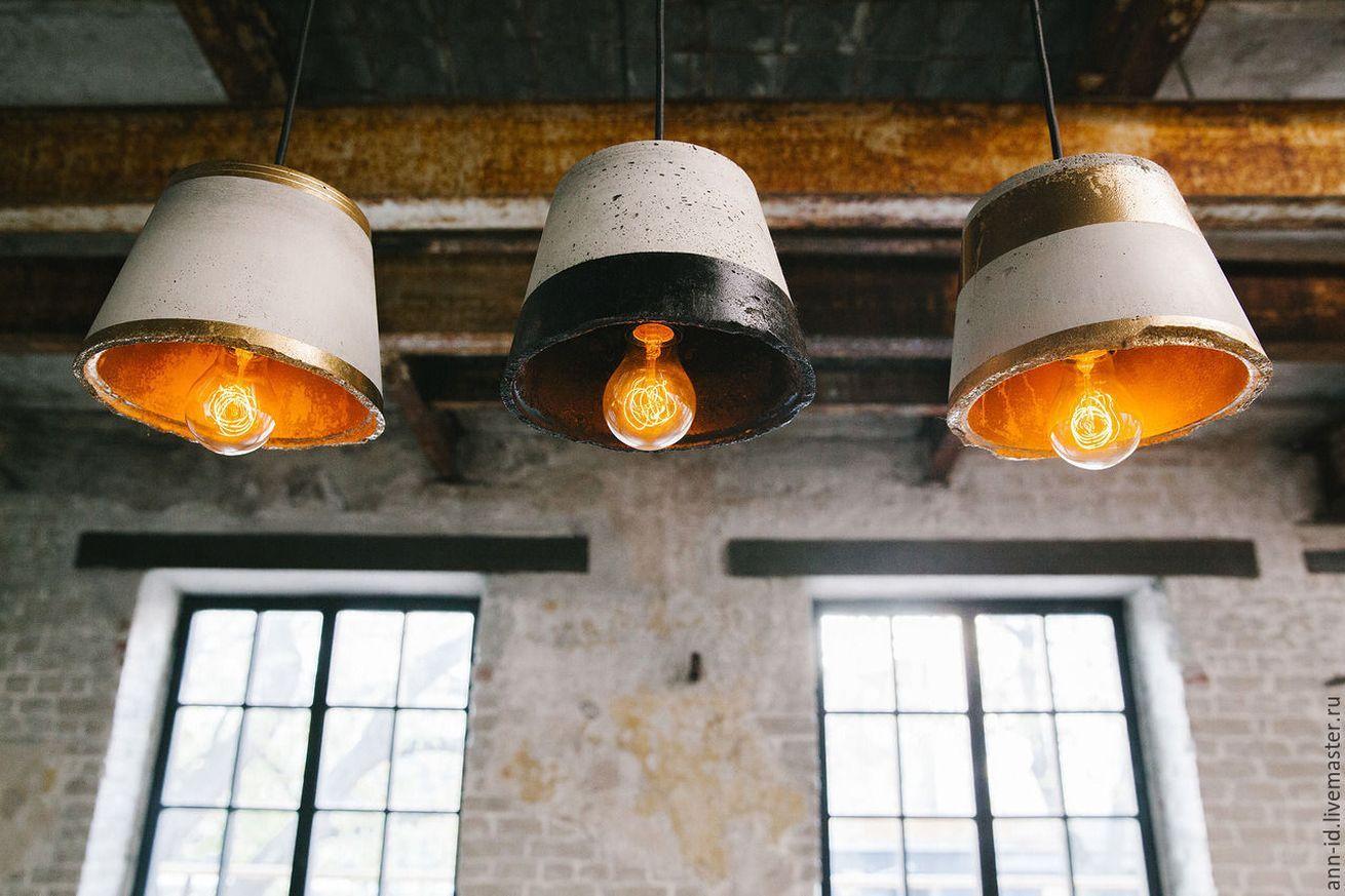 светильники из бетона