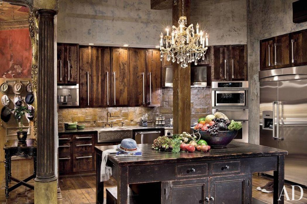 деревянные шкафчики на кухне