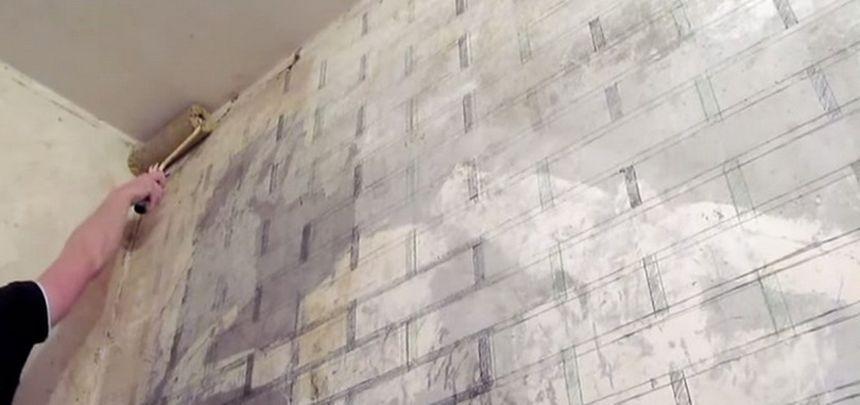 стены покрываем грунтовкой