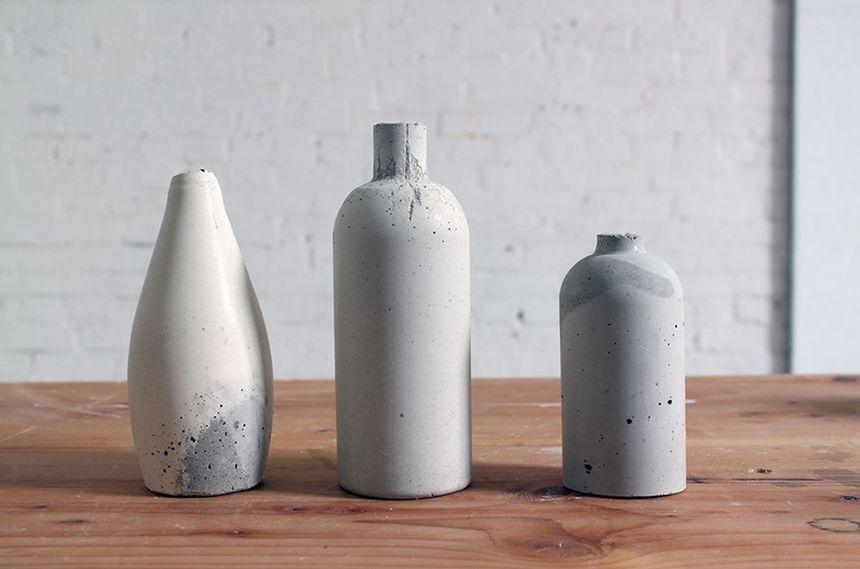 оригинальные вазы из бетона