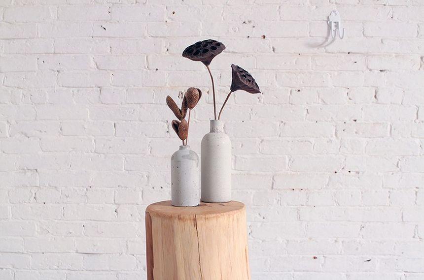 красивые вазы из бетона