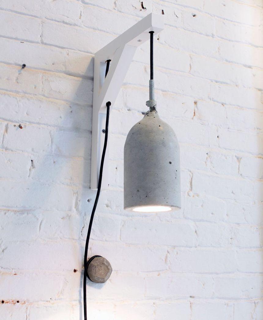 светильник из бетона лофт