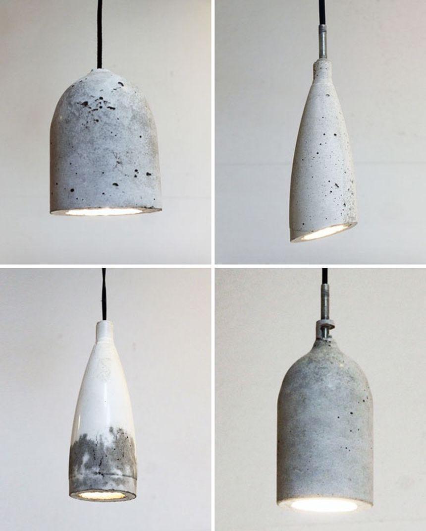 светильники из бетона лофт