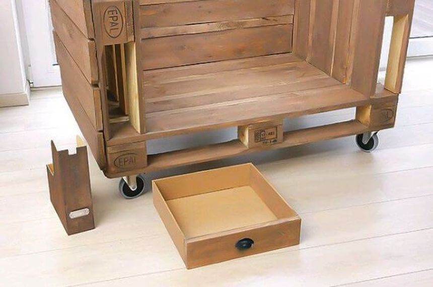 ящики для дивана из поддонов
