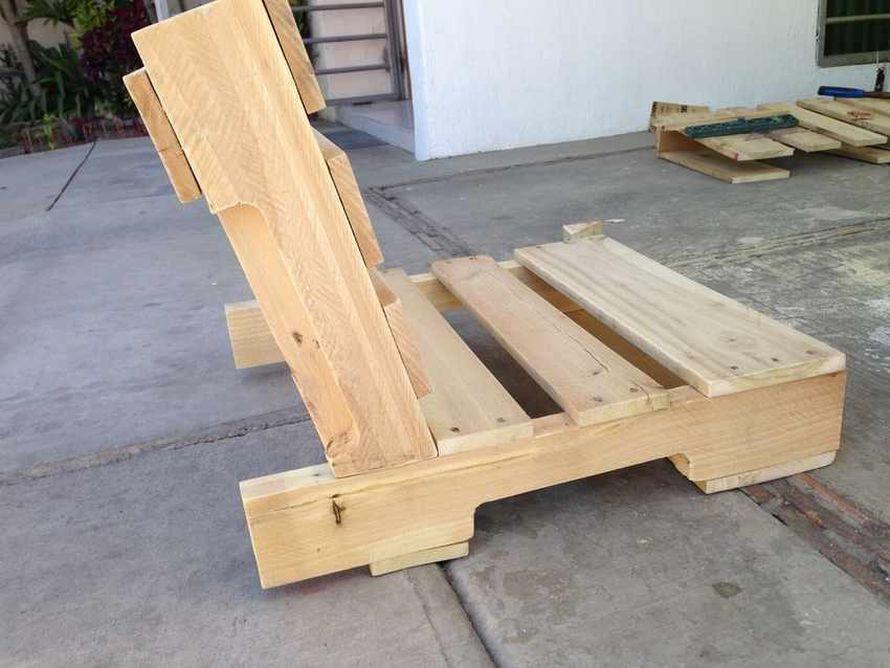 спинка кресла из поддонов
