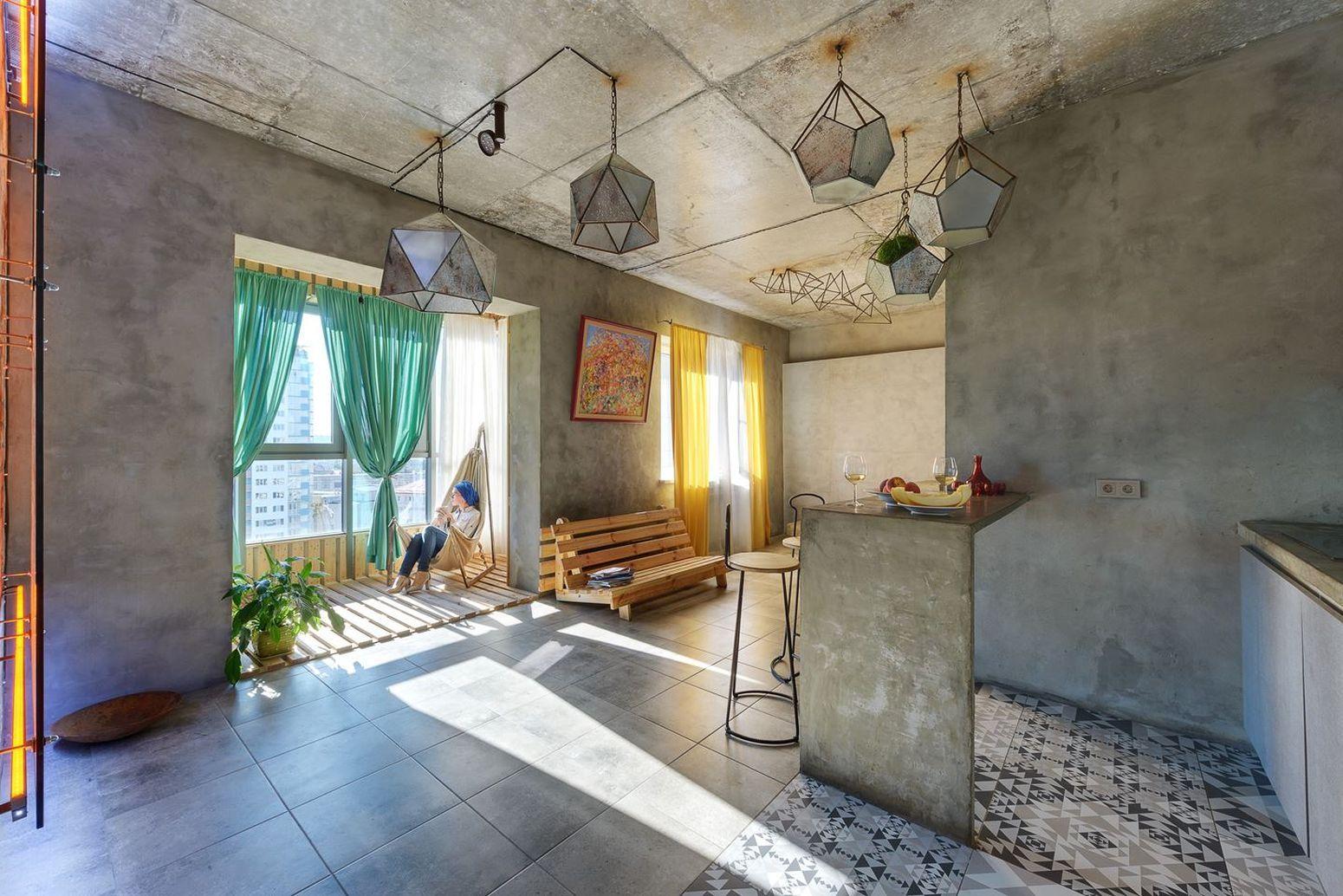 Лофт в Киеве с символикой солнечного культа