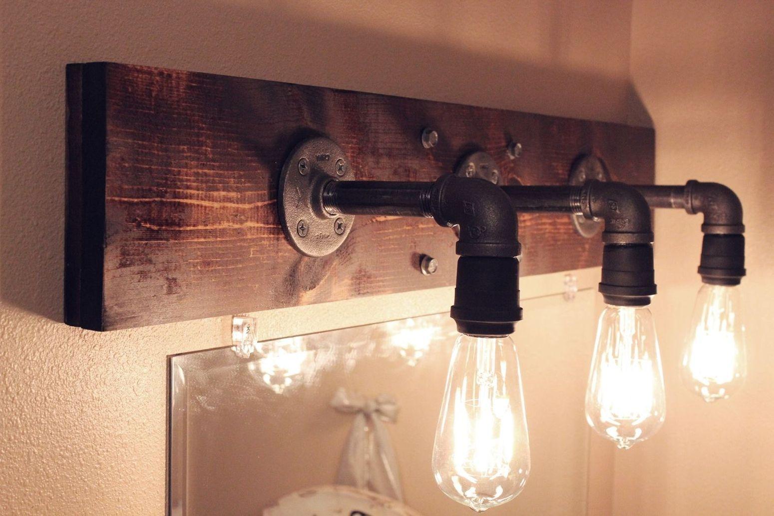 светильник в стиле лофт конечный результат