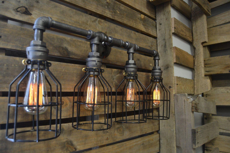 Индустриальный настенный светильник Эдисона