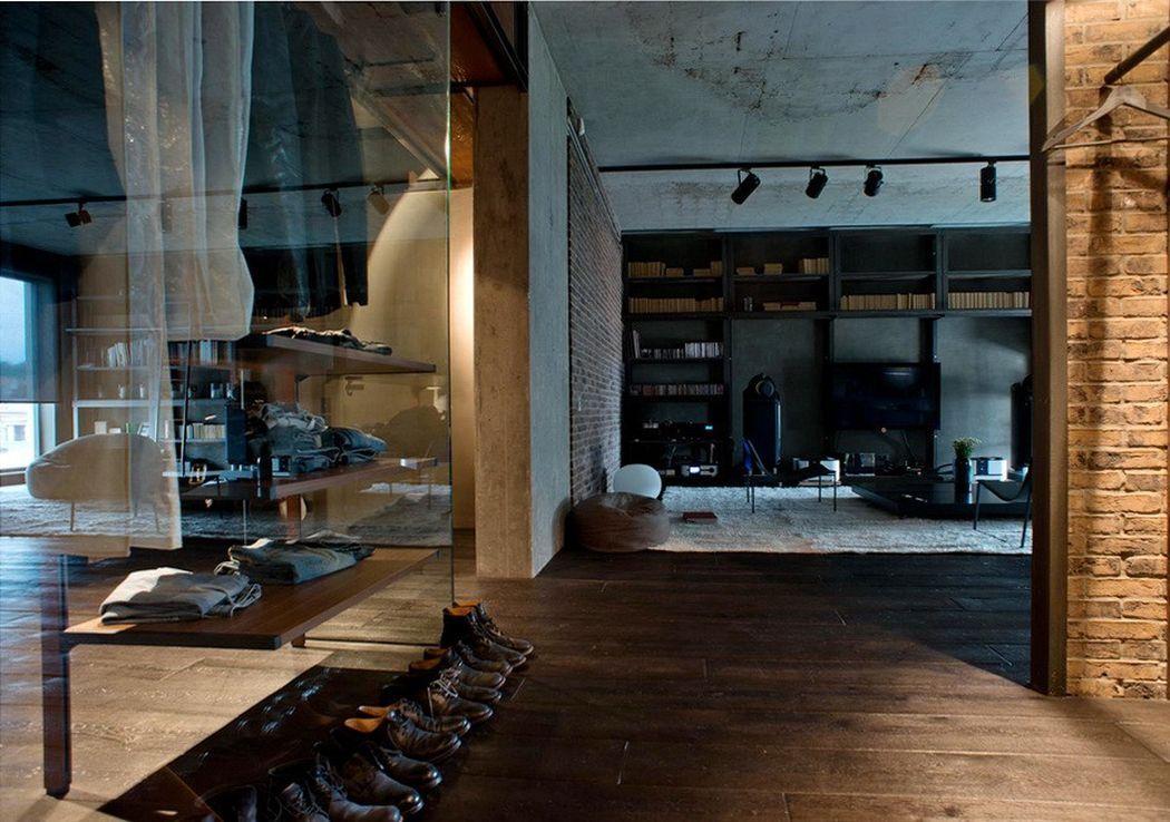 Серый лофт в интерьере квартиры