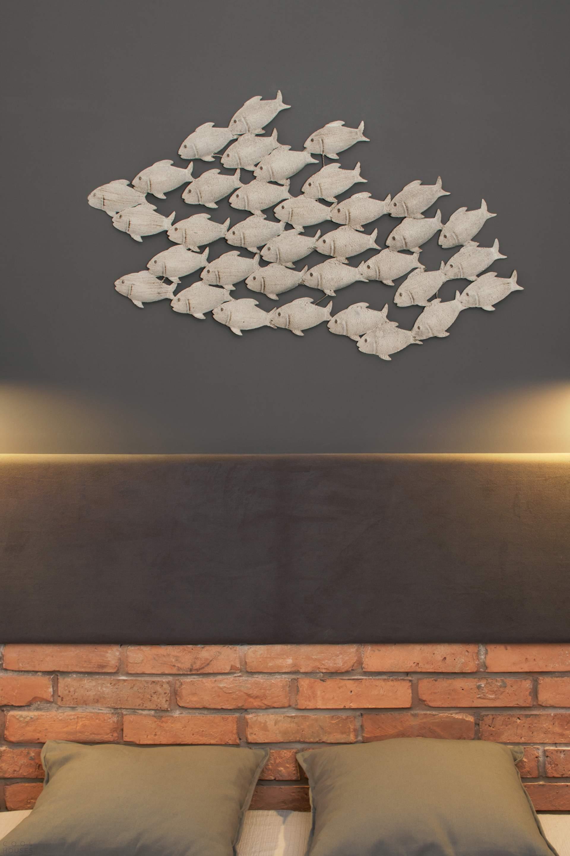 аппликация рыбки на стене