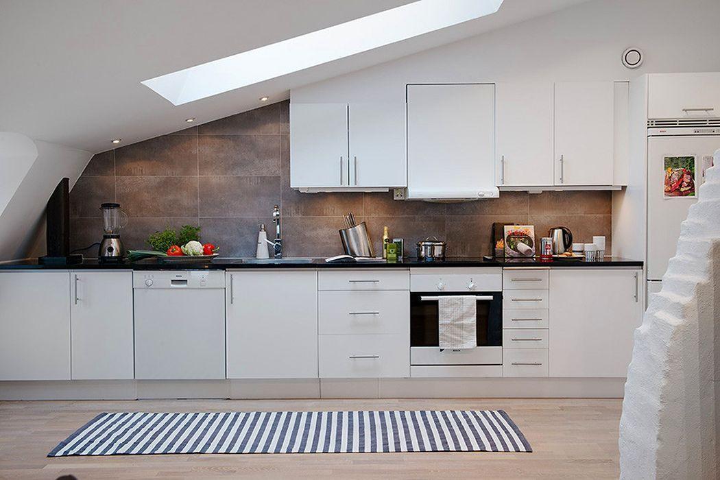 белая кухня лофт