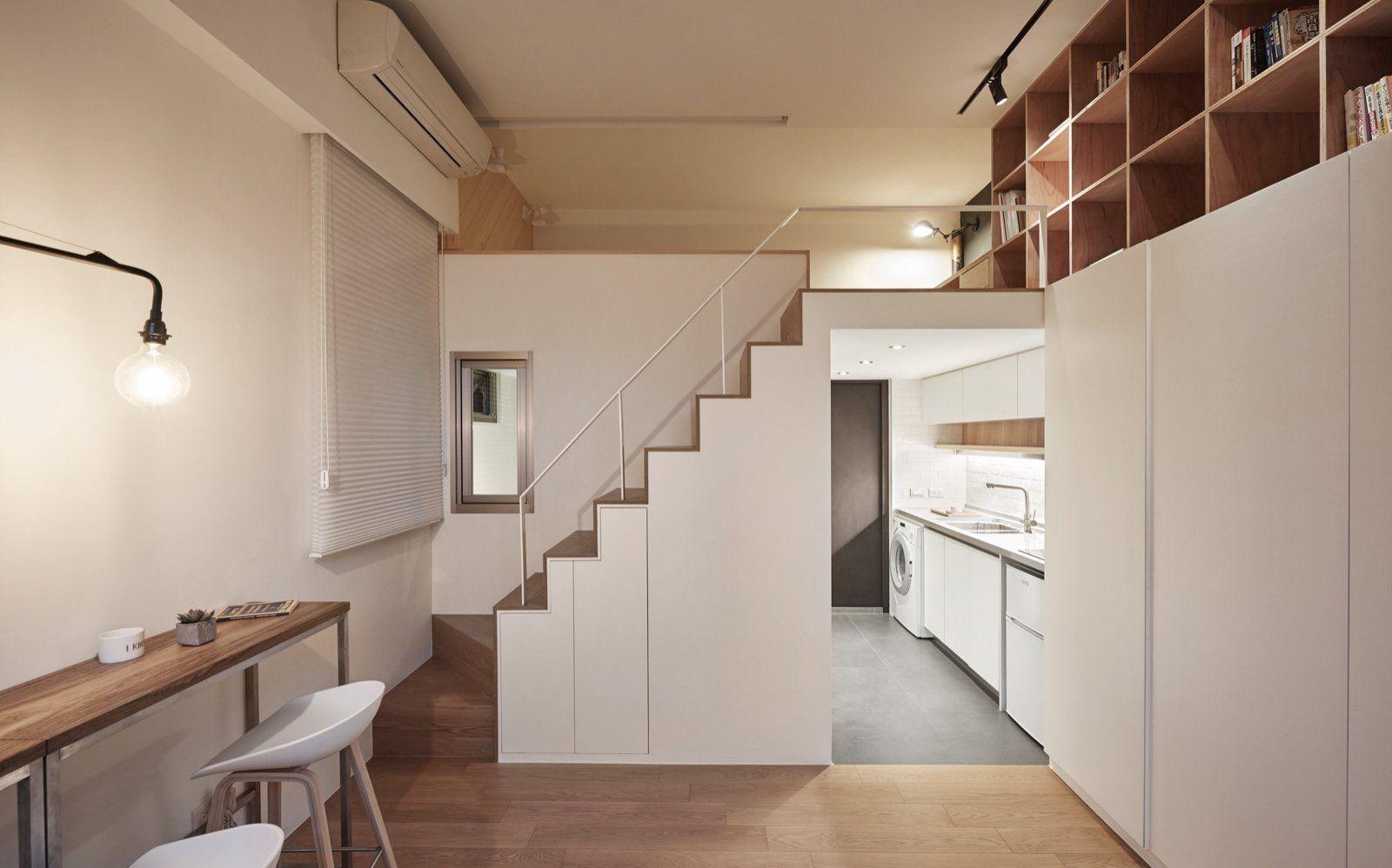 лестница с местом для хранения