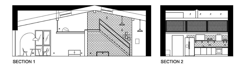 план дома лофт
