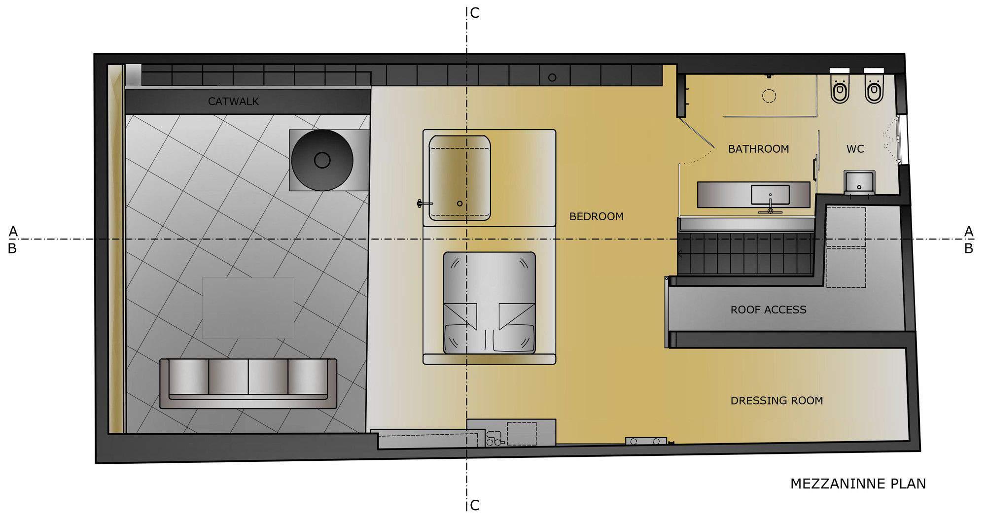 план второго яруса дома