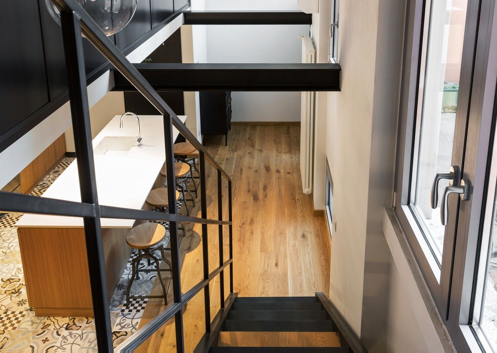 лестница на второй уровень