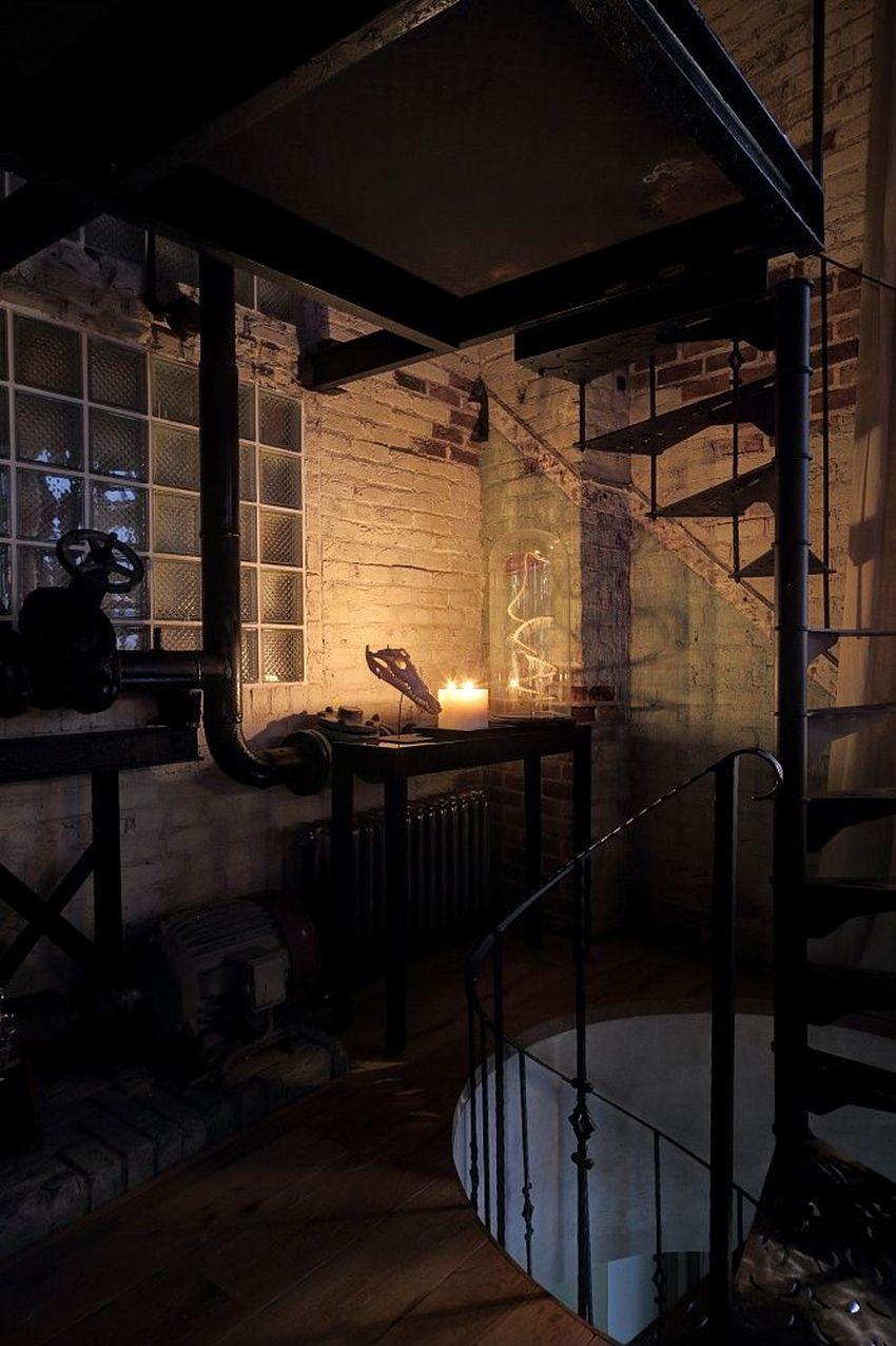 лестница лофт в интерьере