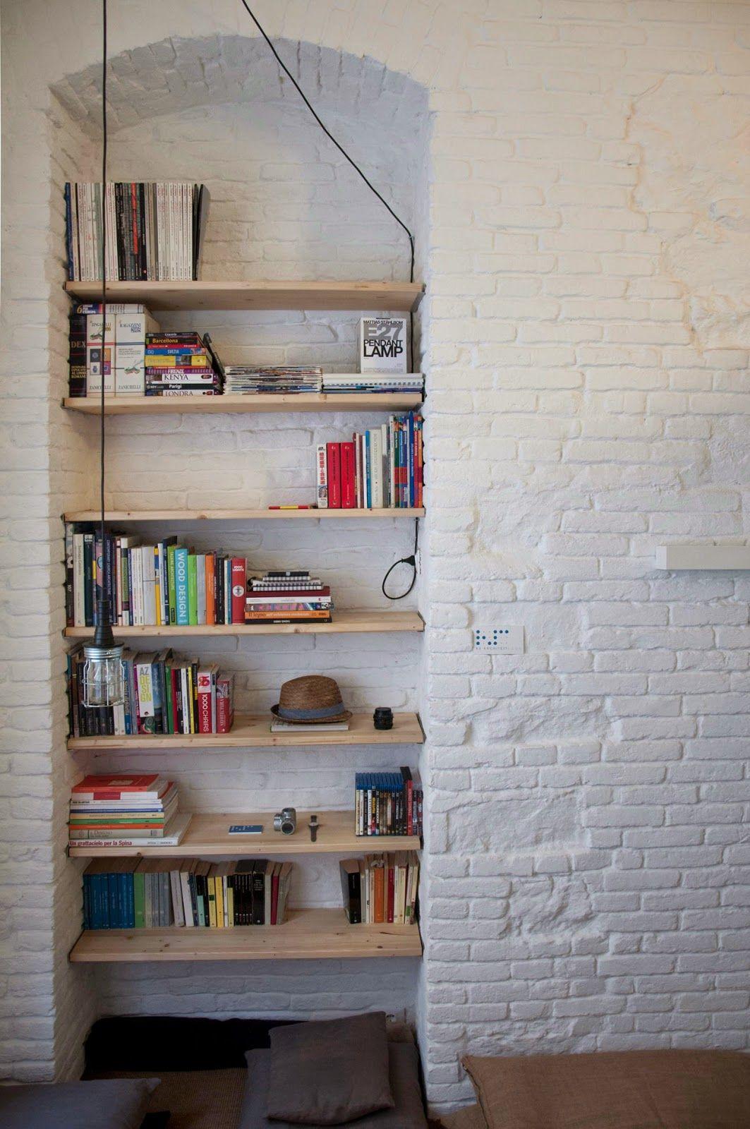 ниши в стене для полок