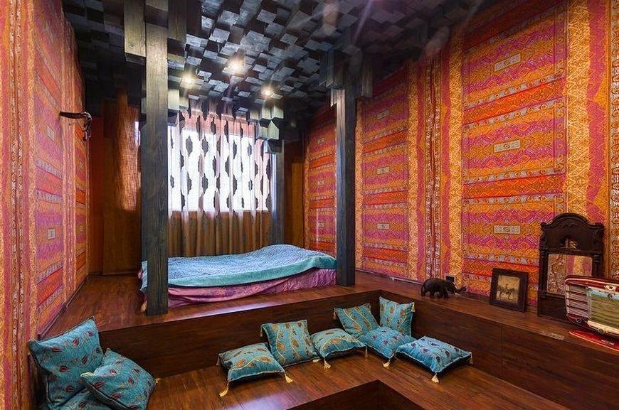 спальня разноцветная