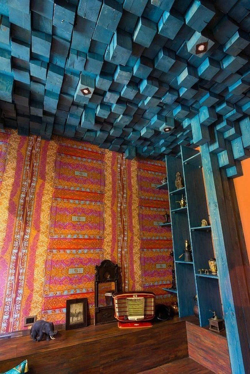 потолок из брусков
