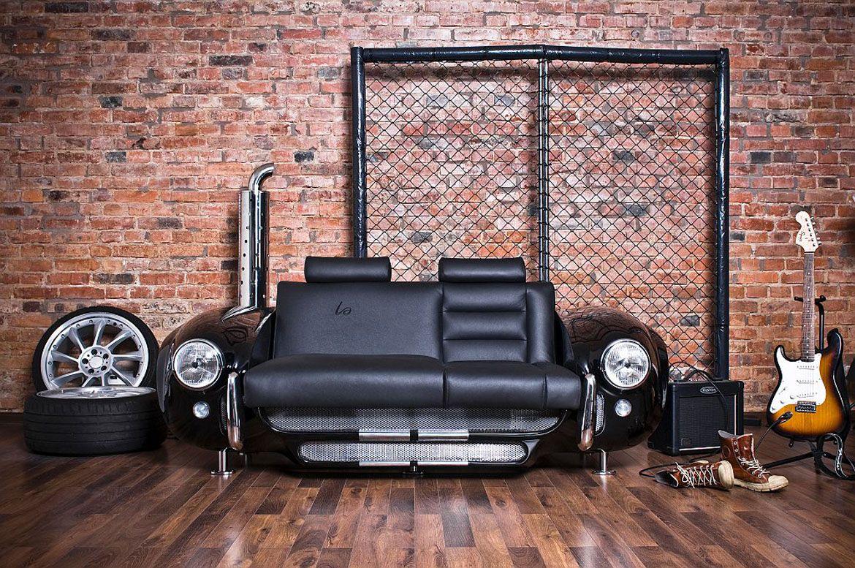 эксклюзивный диван из переда машины