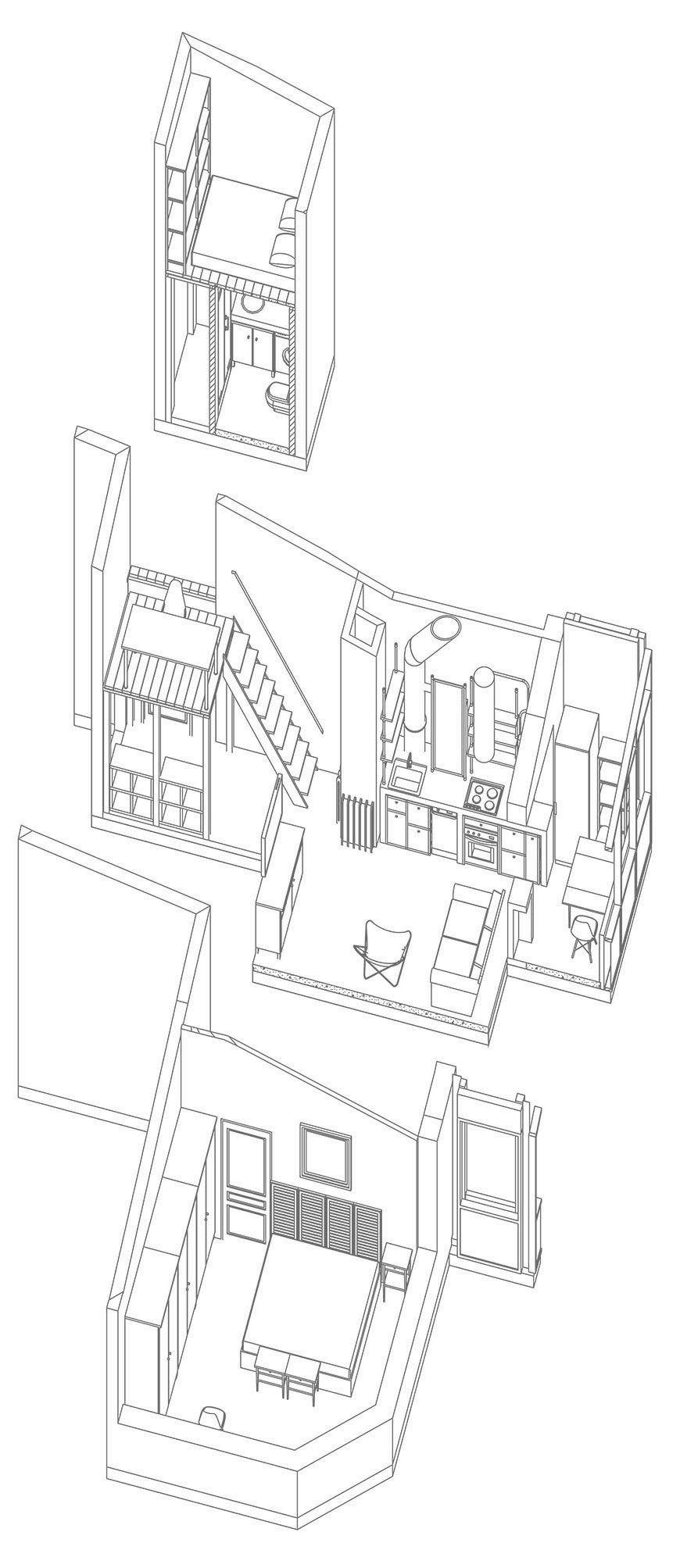 план лофт мансарды 3
