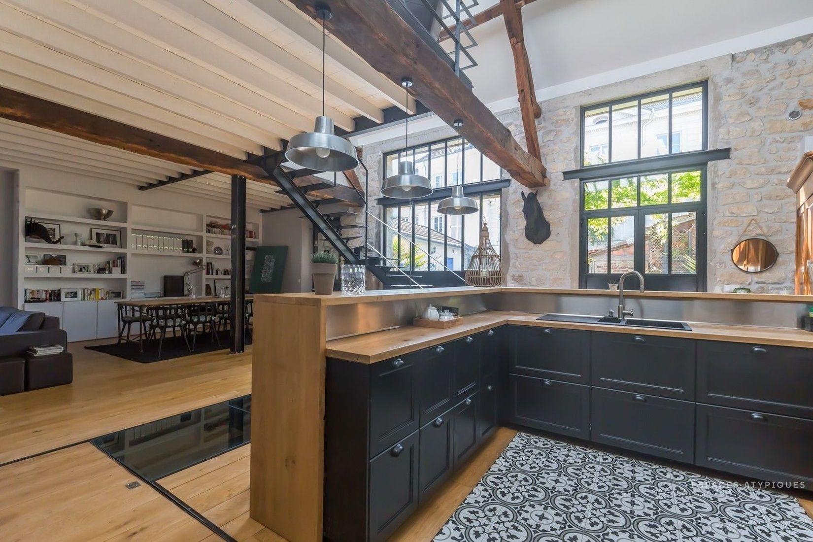 кухонный уголок лофт