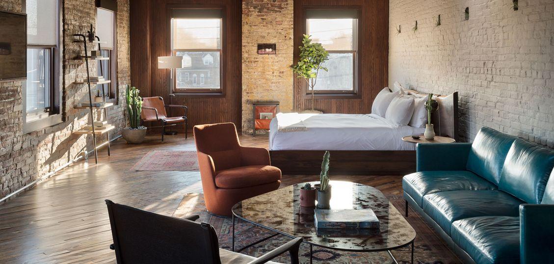 отель в стиле лофт